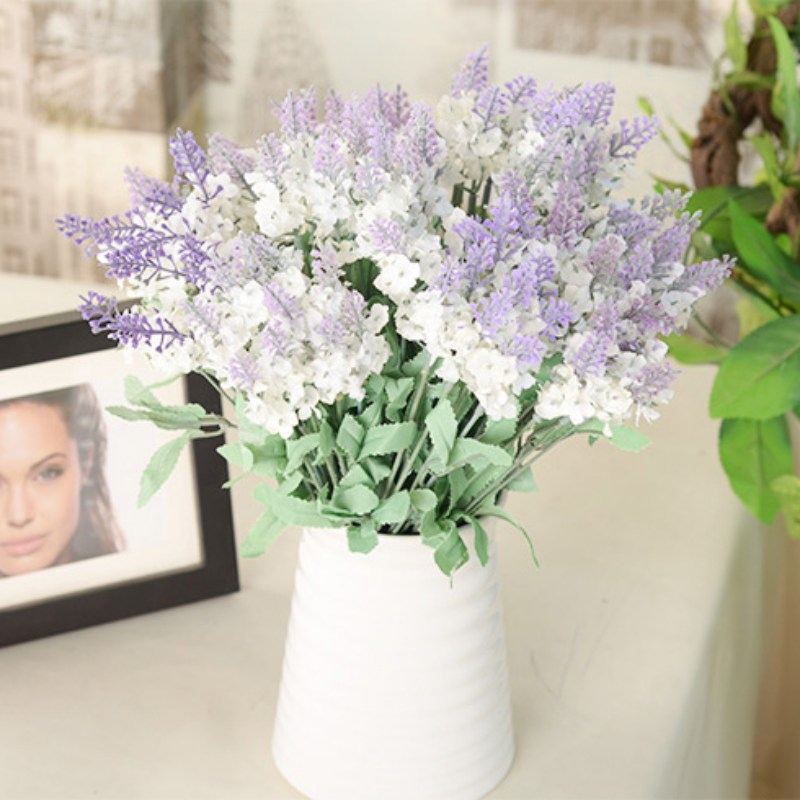 Pretty diy artificial silk fake flower lavender hydrangea wedding pretty diy artificial silk fake flower lavender hydrangea mightylinksfo